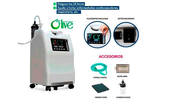 Concentrador oxigeno de 10 litros con doble flujo ENTREGA INMEDIATA