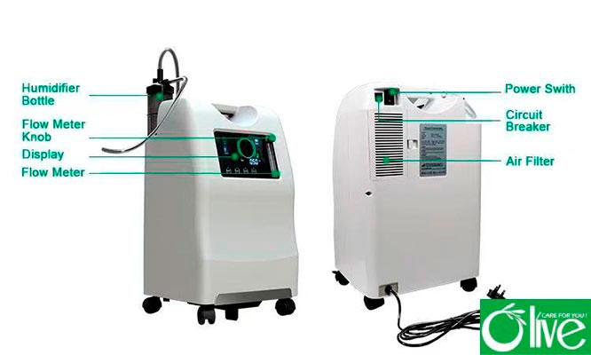 Concentrador de oxigeno OLV-10A pantalla LCD y funcion de voz ¡Entrega inmediata!