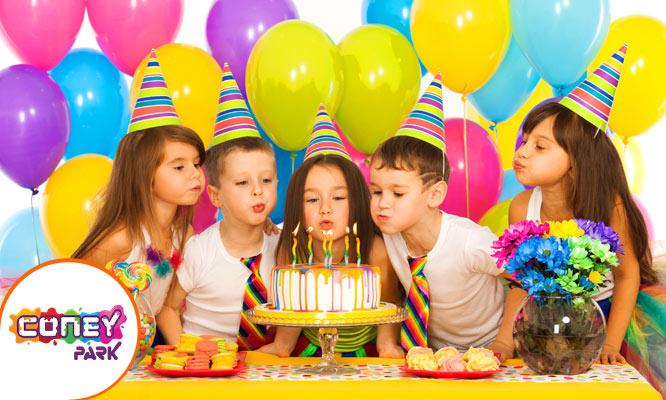 Paquete de cumpleaños para 15 niños en Coney Park