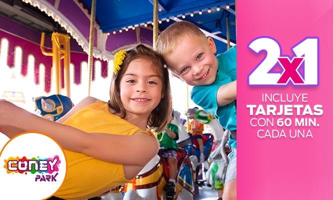 2 tarjetas Coney Park con 1 hora de juegos cada una ¡Muestra el cupon desde tu celular!
