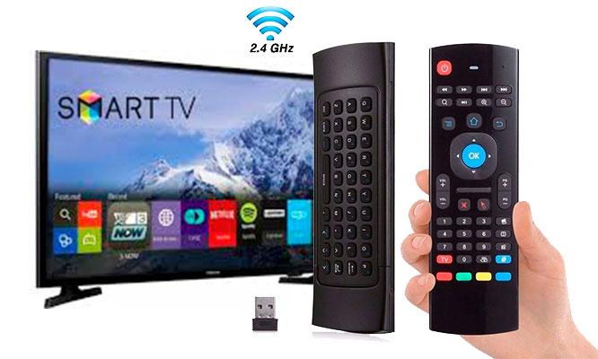 Mouse y Teclado multimedia inalambrico para Smart Tv Smart - PC Laptop PS3 PS4 TV BOX