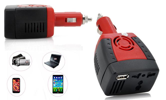 Inversor de corriente para auto 12v-220v 150w