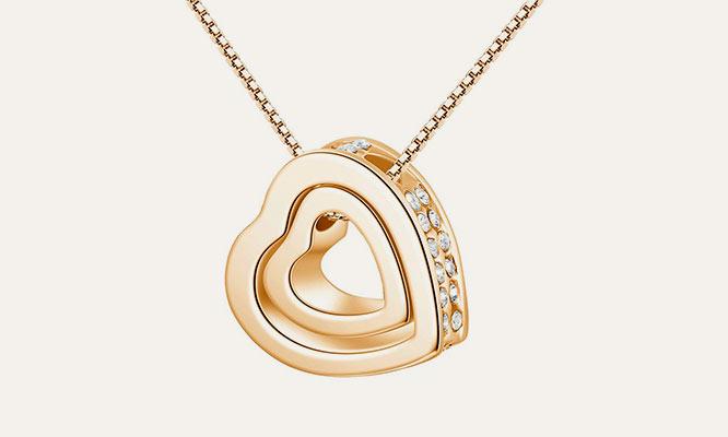 1def4d031ce0 Collar doble Corazón