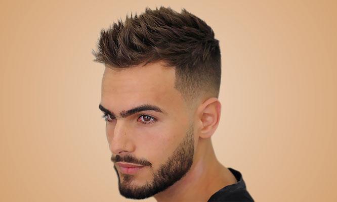 Corte moderno o clasico o barber corte y diseño de barba