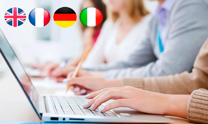 Online 3612 o 24 meses de acceso ingles aleman frances italiano y Business English