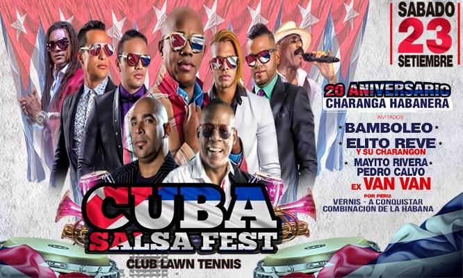 Entrada VIP o Platinum para CUBA SALSA FEST 2017 - 23 de septiembre en el Lawn Tennis