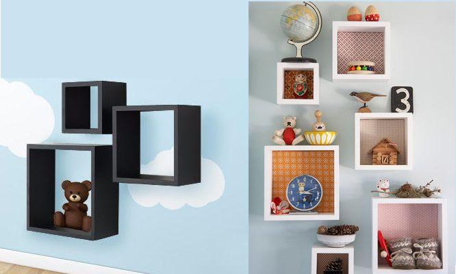 3 repisas decorativas en forma de cubo delivery