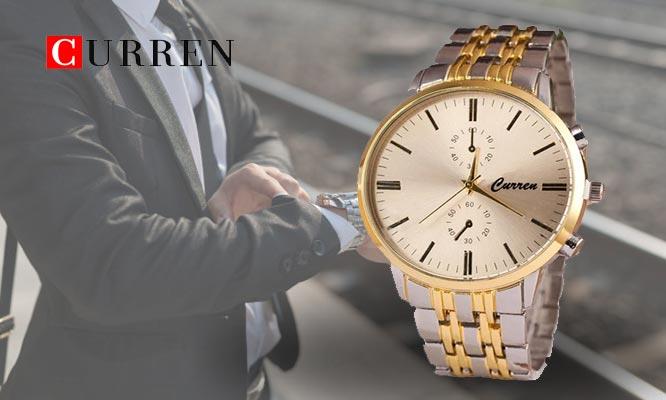 Reloj Curren a elegir estilo elegante en metal o clasico con correa de cuerina