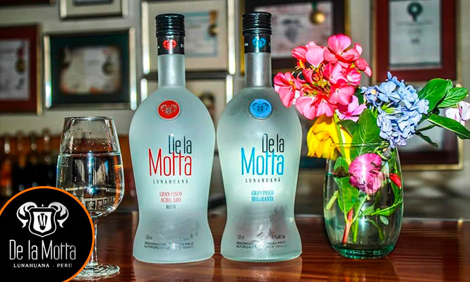 Botella de De La Motta Gran Pisco delivery
