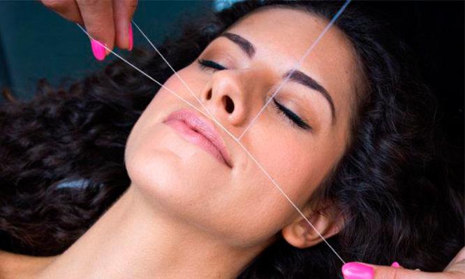 Depilacion facial hindu manicure pestañas 1x1 peinado