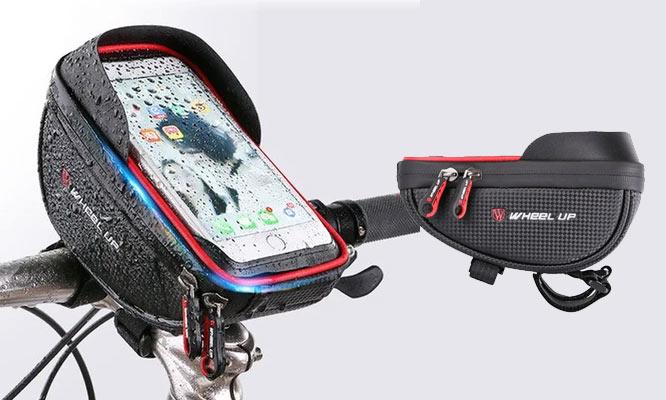 Holder con bolso Wheel Up para bicicleta impermeable