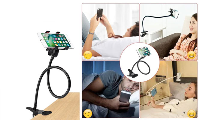 Sujetador Flexible para Celular con Base Metalica ¡Elige 1 o 2!