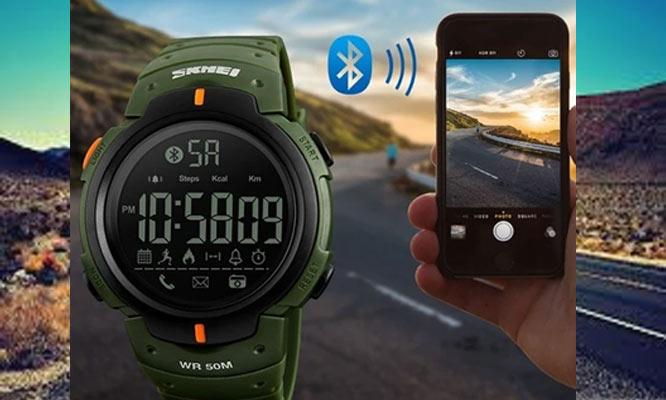 SmartWatch SKMEI 1301 acuatico antigolpes podometro contometro de calorias y mas