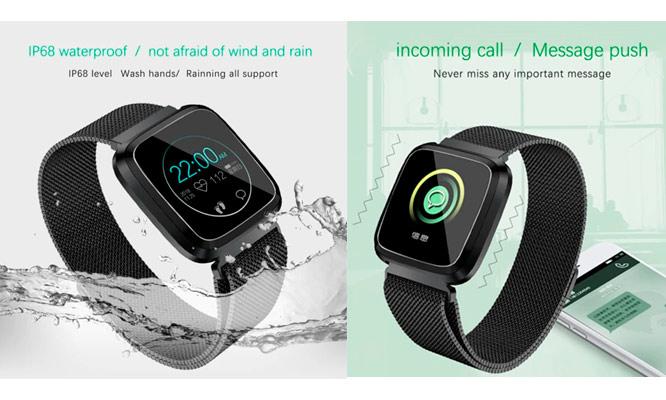 Smartwatch L18 IP68 acuatico seguimiento de ritmo cardiaco