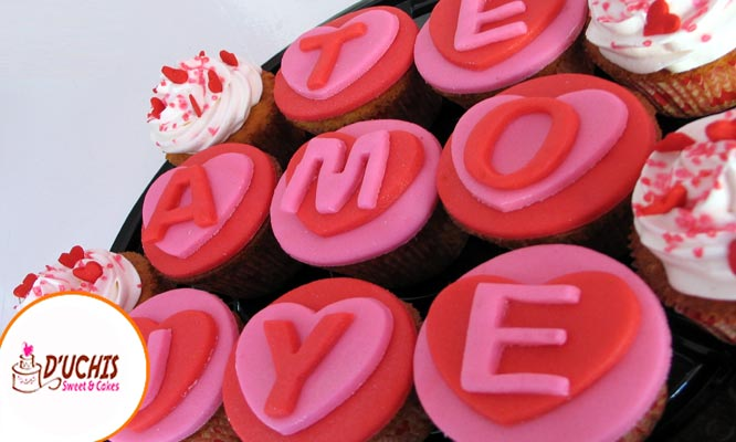 Love Cupcakes 6 12 o 24 decorados en fondant o buttercream