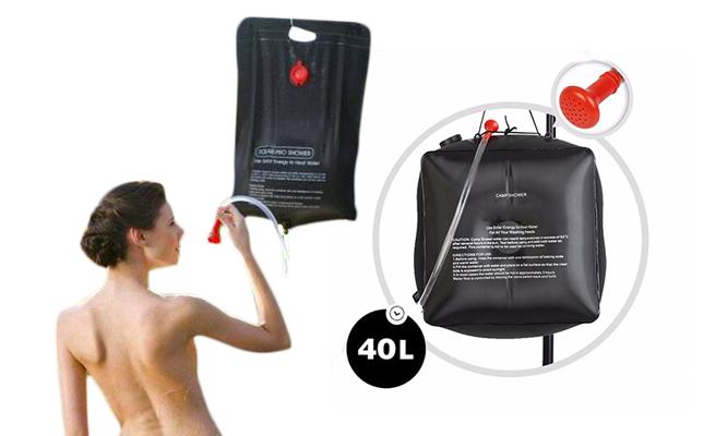 Ducha portatil Solar 40 Litros para camping