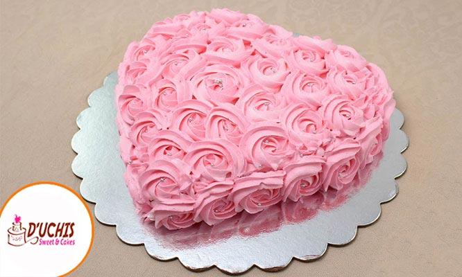 Torta Buttercream en Forma de Corazon de 15 o 20 Porciones con Delivery