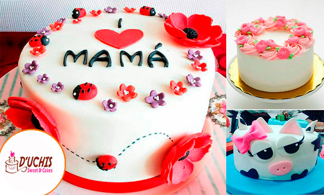 Torta elastica tematica para 20 o 30 porciones