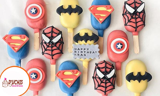 Popsicles cakes 6 12 o 24 decorados en fondant o buttercream
