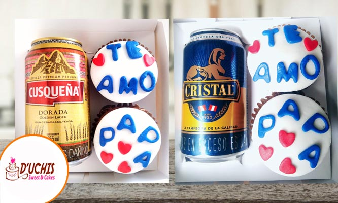 Pack papa con cupcakes cerveza delivery en Duchis Cakes & Sweet