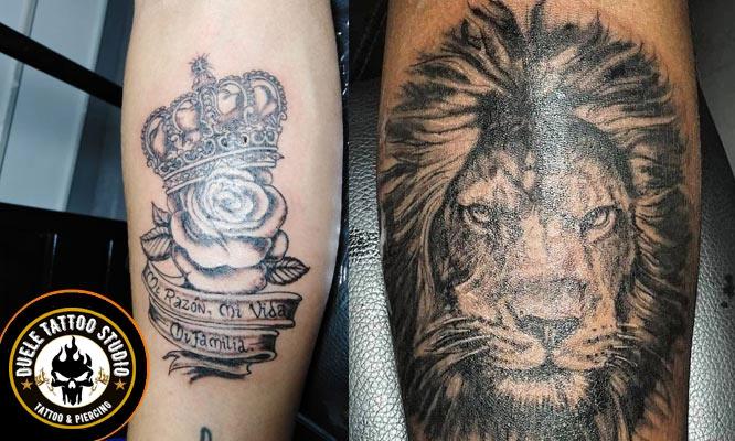 Tatuaje en escala de Grises de de 15 x 10 cm