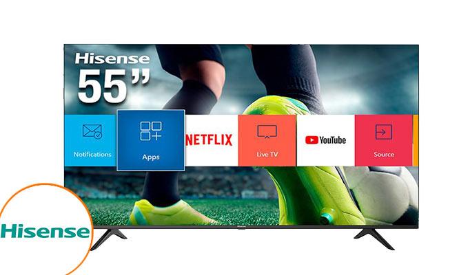 TV Hisense 55 Ultra HD 4K VIDA Smart TV WIFI Devolucion 100 creditos ¡Incluye delivery!