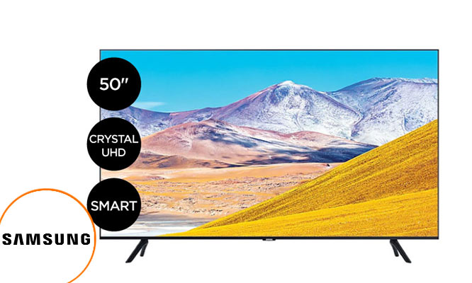 TV Samsung 50 Crystal ULTRA HD Smart UN50TU8000GXPE ¡Incluye delivery!