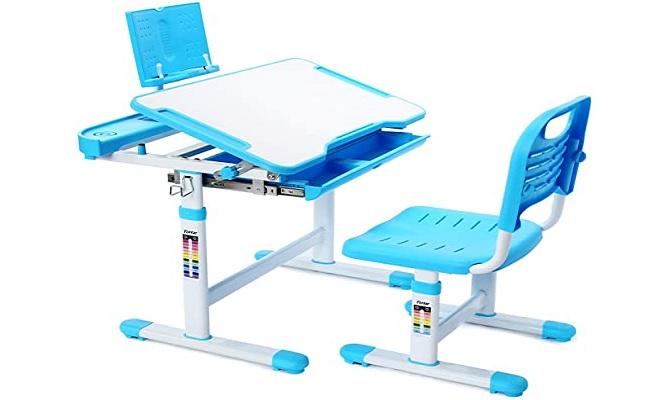 ¡Lindo juego de escritorio y silla para niños altura ajustable diseño ergonomico!