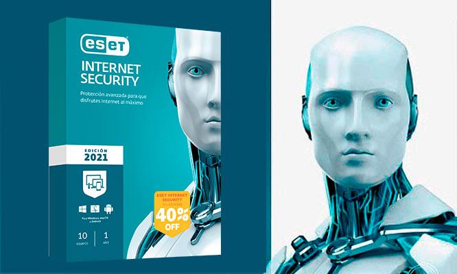 ESET INTERNET SECURITY 2021 para 3 o 10 PCs