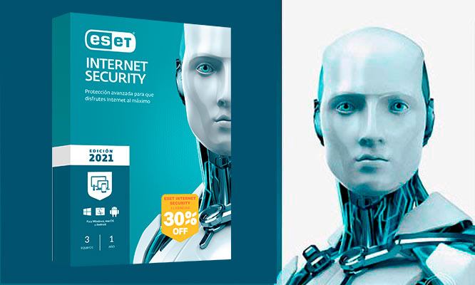 ESET INTERNET SECURITY 2021 para 3 o 10 PCs