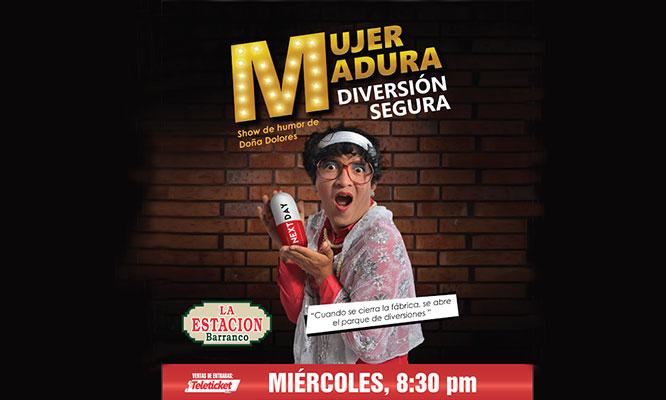 2 entradas para el show de Humor Mujer madura diversion segura