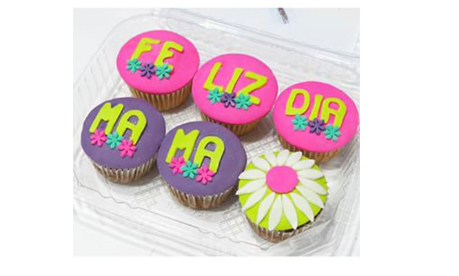 6 o 12 o 24 cupcakes con mensajes personalizados ¡Envia tus mensajes de amor!