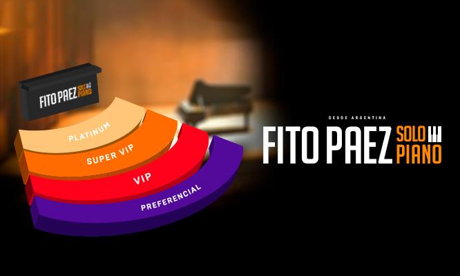 Fito Paez entrada VIP o Super VIP el 01/06 en Anfiteatro del Parque de la Exposicion