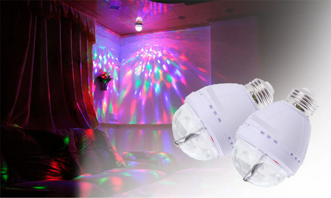 San Borja Pack de focos LED giratorios con luces multicolores