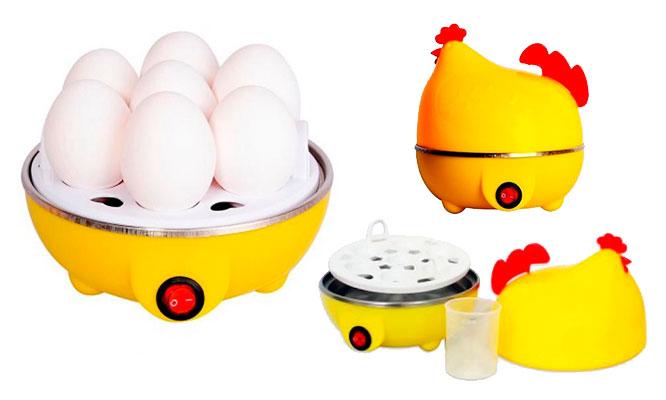 Gallinita hervidor cocedor de huevos duros al vapor electrico