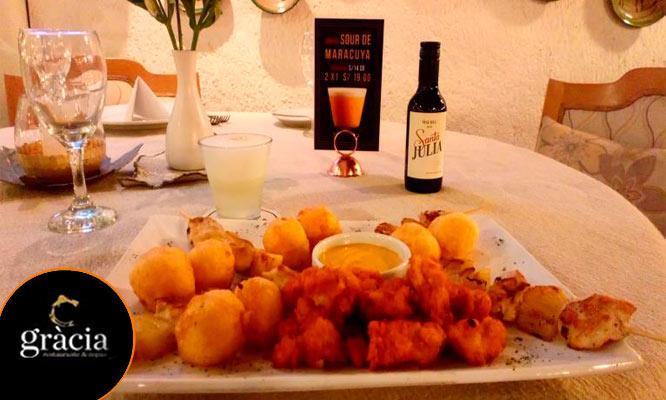 Happy Hour para 2 Pisco Sours fuente de piqueo gourmet ¡Celebra ya!