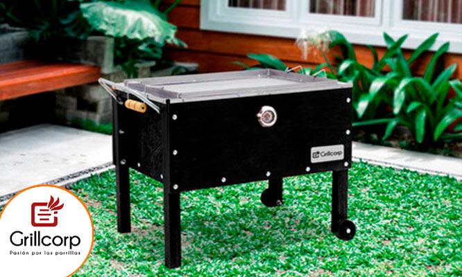 Caja China Black Edition Premium con Termometro tamaño a eleccion Grillcorp