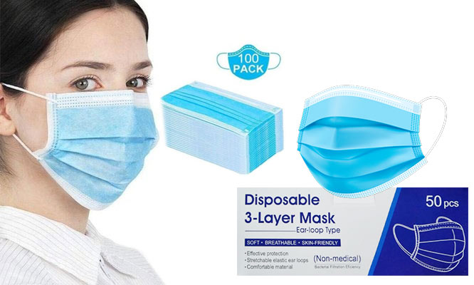 SALE 100 mascarillas 02 cajas de 3 pls con ajuste nasal ¡Con delivery en 24hrs!