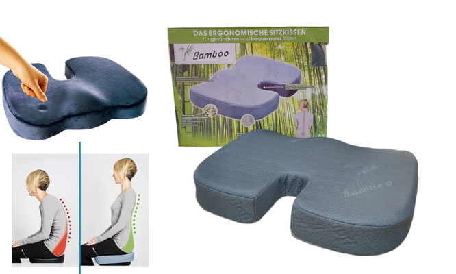 Asiento Cojin ortopedico 100% viscoelastica con funda de Bamboo ¡Con delivery en 24hrs!