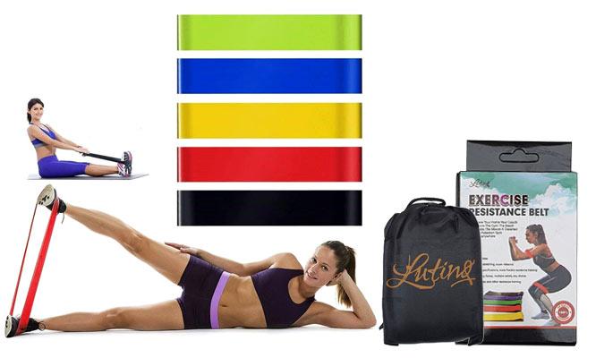Set de 5 bandas elasticas de resistencia para ejercicios empaque ¡Con delivery en 24hrs!