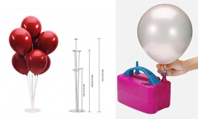 Infladora de globos con opcion a pack de globos delivery
