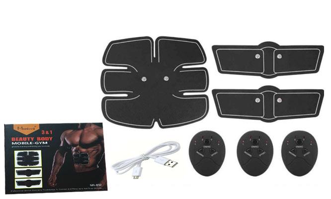 Smart Fitness gimnasia pasiva en caja 3 en 1 recarga USB delivery