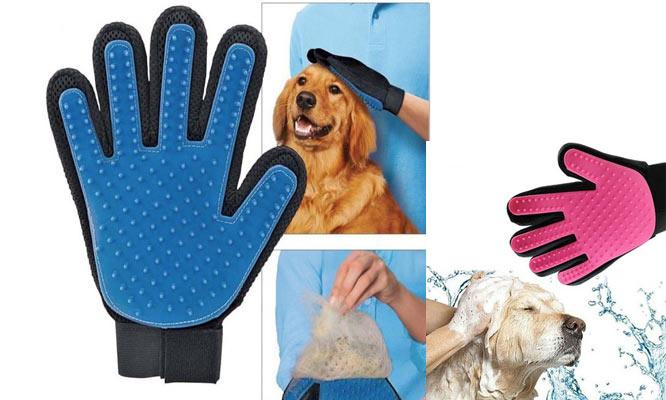 Guante de silicona masajeador para mascotas perros y gatos ¡Incluye delivery!