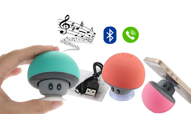 Mini Parlante Honguito - Mushroom Bluetooth Speaker y Mic ¡Incluye delivery!