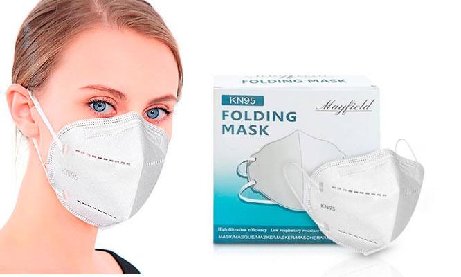 20 Mascarillas KN95 5 capas con ajuste nasal - BOLSA INDIVIDUAL ¡Con delivery en 24hrs!