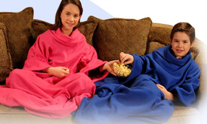 Manta polar con mangas para niños o adultos
