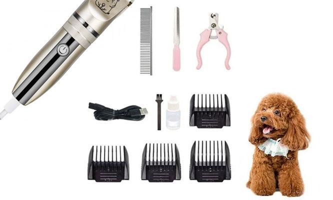 Maquina Inalambrica de corte para mascotas recarga USB y set Groomer ¡Delivery 24hrs!