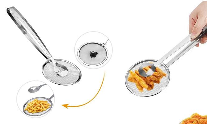 Pinza para frituras INOX ¡Con delivery en 24hrs!