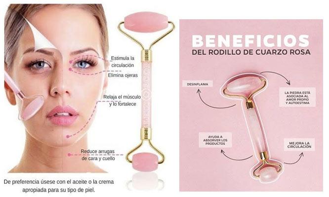 Belleza Rodillo de cuarzo antifaz Gel Espejo adhesivo ¡Delivery en 24 hrs!