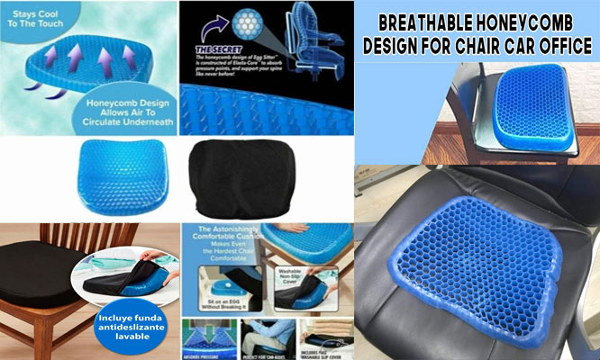 Asiento Cojin confortable 100 % gel Sunny seat de 800 gramos ¡con delivery!
